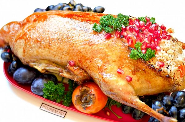 Домашня качка з рисом - рецепт