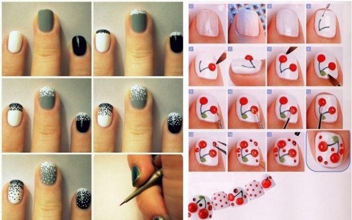 Раскрасить ногти в дома