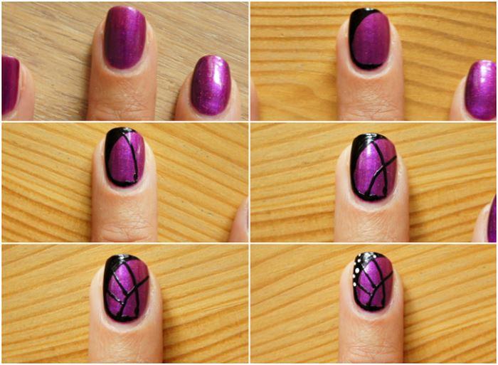 Маникюр на ногтях нарисовать