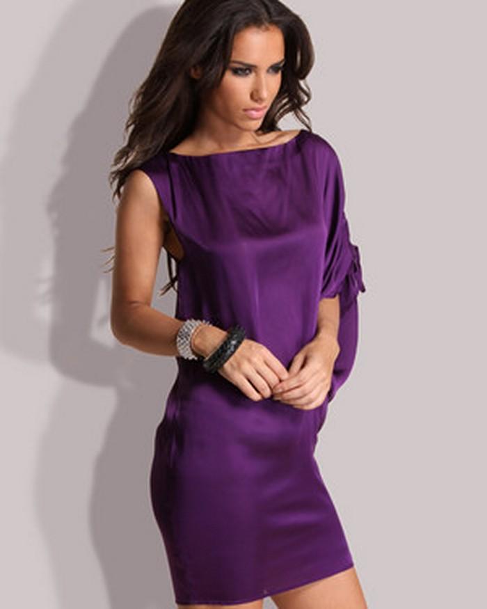 фіолотові сукні