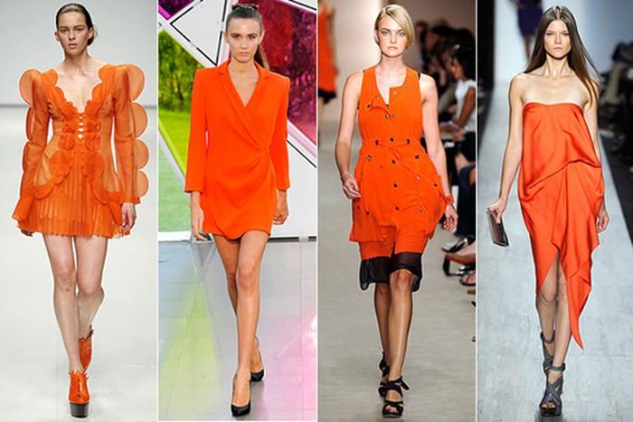 оранжеві сукні