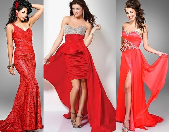 червоні плаття