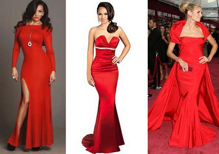червоні сукні