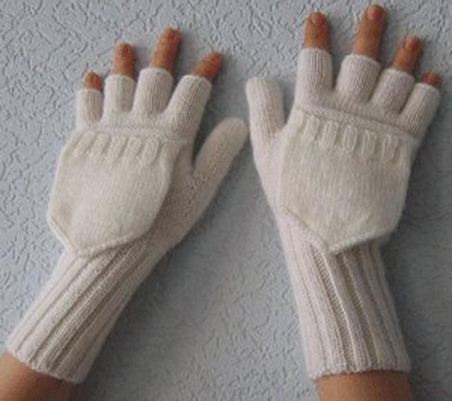 Вязаные крючком перчатки без пальцев фото