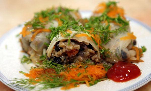 рецепт голубців з грибами